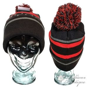 Spyder Men's Striped Pom Beanie One Size NWT
